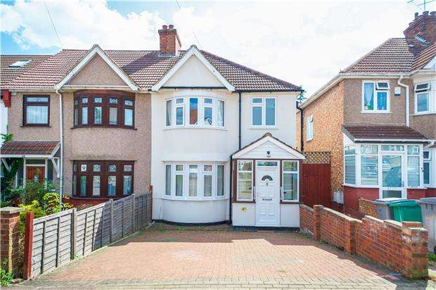 3 Bedrooms End Of Terrace House for sale in Dunster Drive, KINGSBURY, NW9 8EH