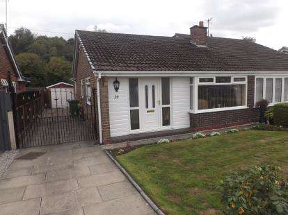 2 Bedrooms Bungalow for sale in Winfrith Road, Fearnhead, Warrington, WA2