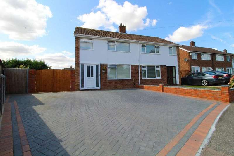 3 Bedrooms Semi Detached House for sale in Elm Close, Bedford, Bedfordshire, MK41