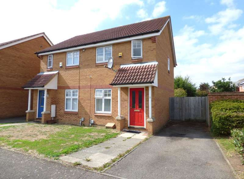 2 Bedrooms Semi Detached House for sale in Cottril Way, Bedford, MK42 0WA