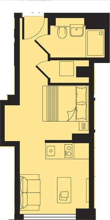 Studio Flat for sale in ATRIA, Bath Road, Slough, Berkshire
