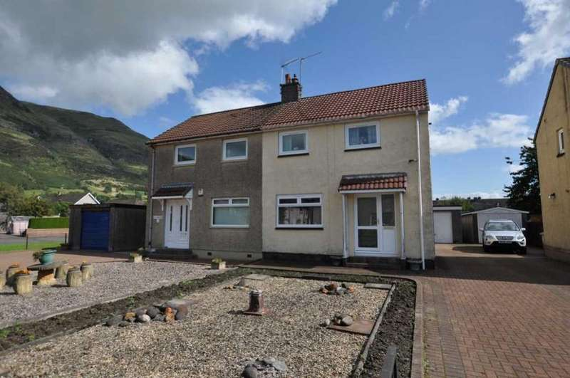 2 Bedrooms Semi Detached House for sale in 3 Craighorn Road, Alva, FK12 5DL, UK