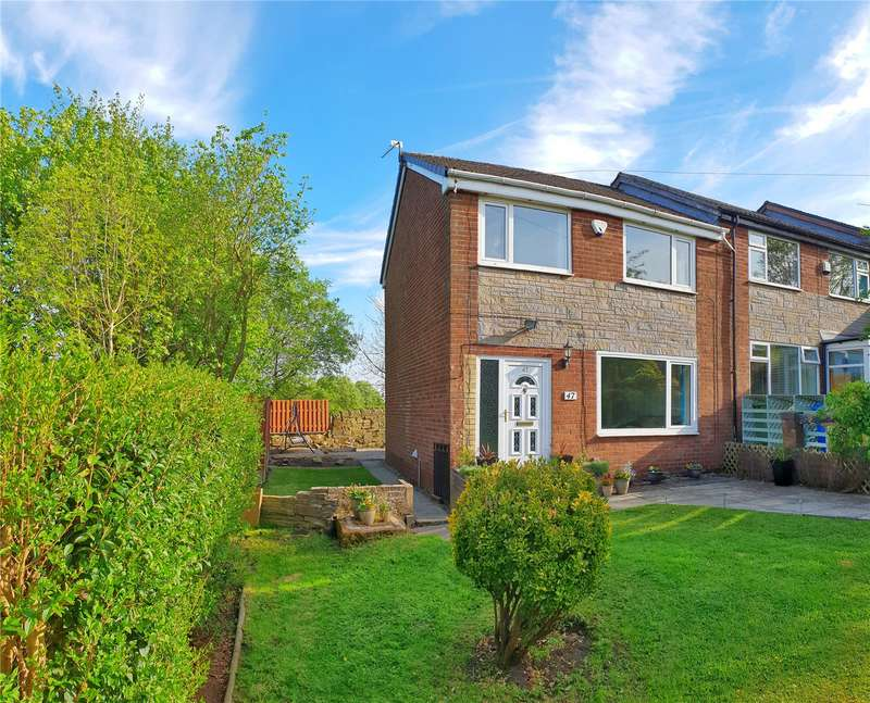 3 Bedrooms End Of Terrace House for sale in Lynwood Drive, Greenacres, Oldham, Lancashire, OL4