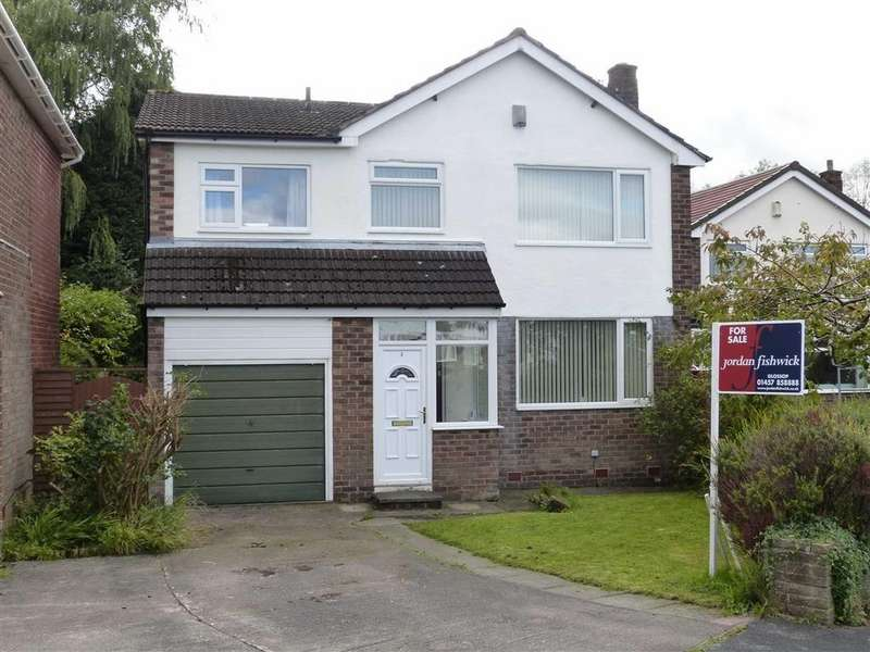 4 Bedrooms Detached House for sale in Lawnfold, Hadfield, Glossop
