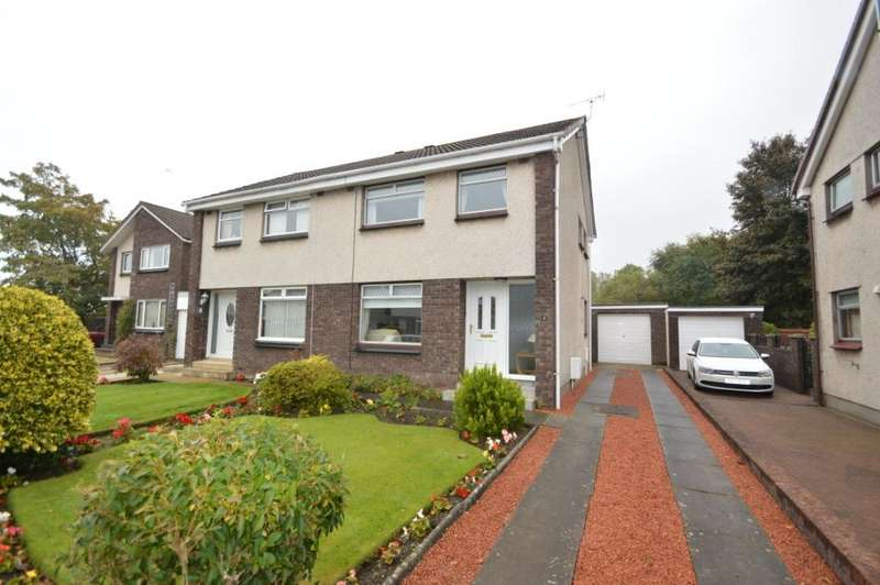 3 Bedrooms Semi Detached House for sale in Coll Gardens, Dreghorn, North Ayrshire, KA11 4EA