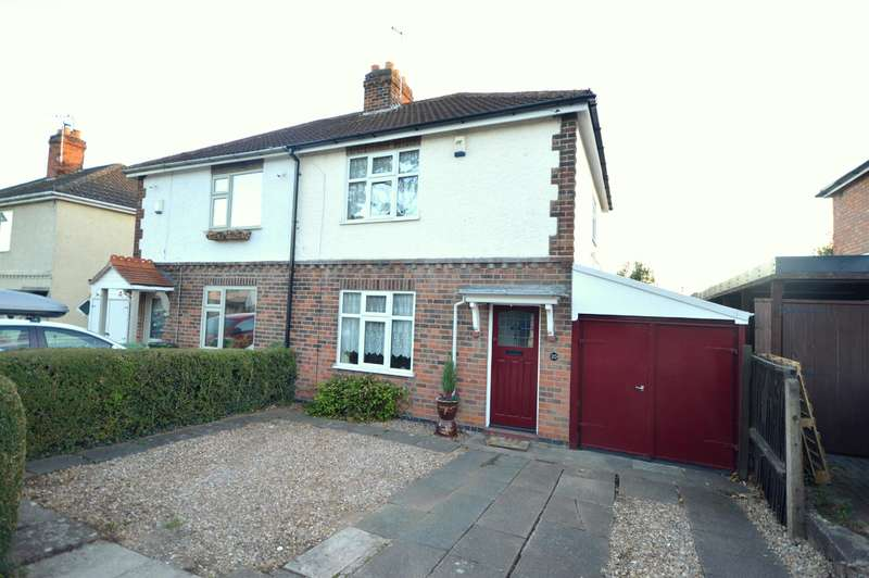2 Bedrooms Semi Detached House for sale in Sandhill Drive, Enderby, Leicester, LE19 2LP