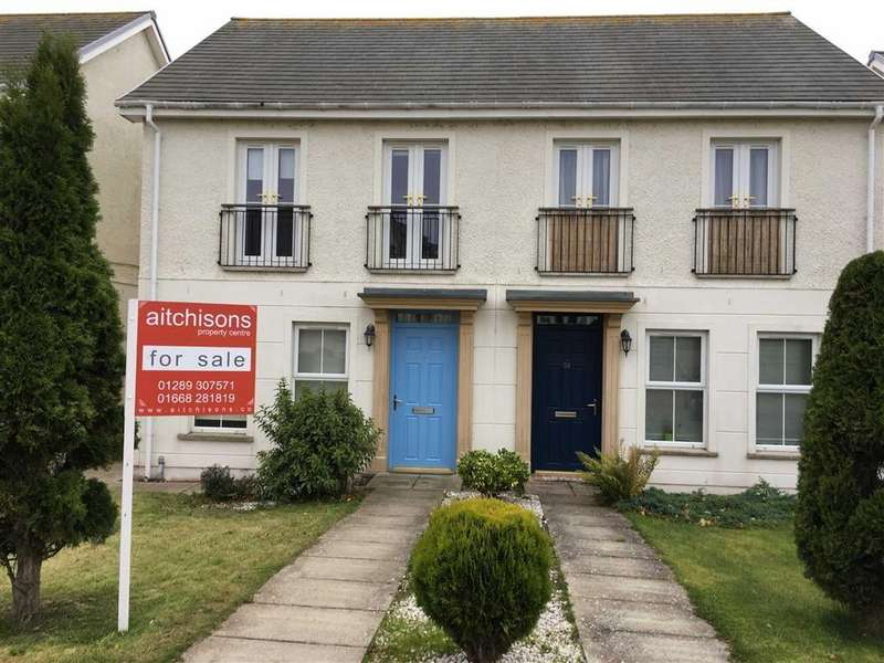 3 Bedrooms Semi Detached House for sale in Whitehall Road, Chirnside, Berwickshire, TD11