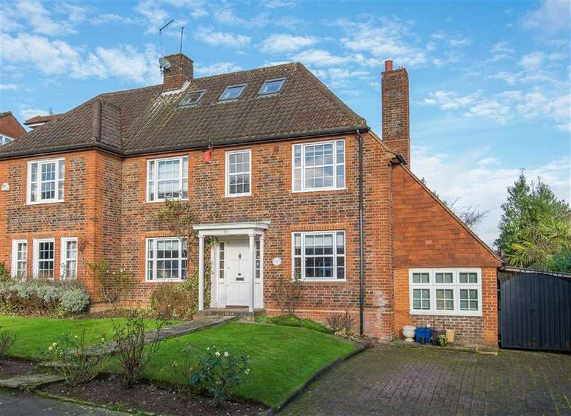 4 Bedrooms Semi Detached House for sale in Coppice Walk, Totteridge, London