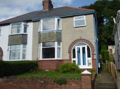 3 Bedrooms Semi Detached House for sale in Belmont Avenue, Bangor, Gwynedd, North Wales, LL57