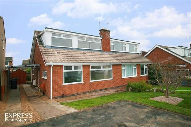 3 Bedrooms Semi Detached House for sale in Ludlow Close, Loughborough, Leicestershire