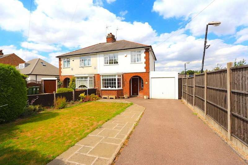 3 Bedrooms Semi Detached House for sale in Hinckley Road, Leicester Forest East