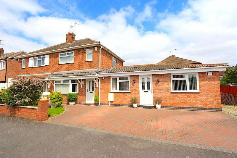 2 Bedrooms Semi Detached House for sale in Lowland Avenue, Leicester Forest East