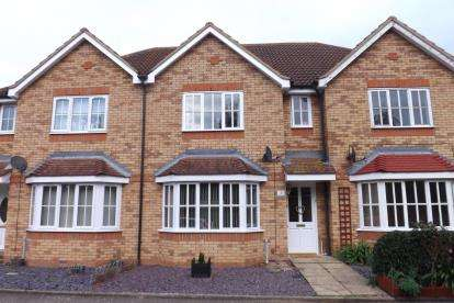 3 Bedrooms Terraced House for sale in Meadow Close, Beeston, Sandy, Bedfordshire