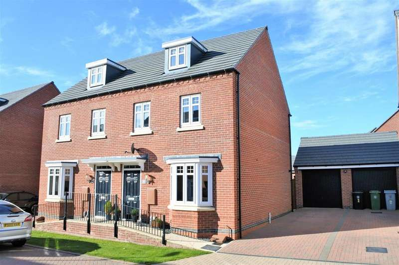 3 Bedrooms Semi Detached House for sale in Tamworth Close, Grantham