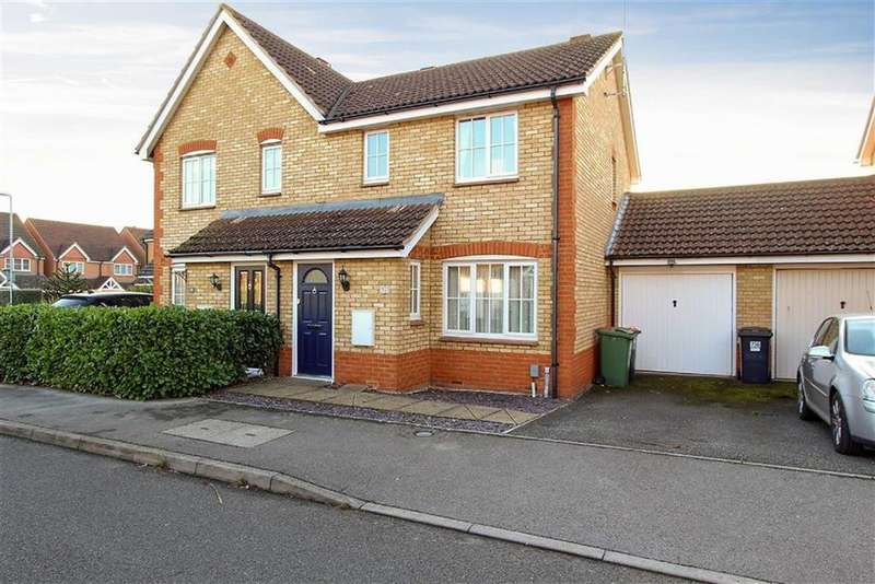 3 Bedrooms Semi Detached House for sale in Gibson Drive, Leighton Buzzard