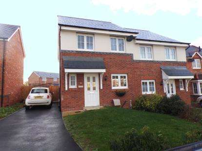 3 Bedrooms Semi Detached House for sale in Ffordd Dewi, Oakenholt, Flint, Flintshire, CH6