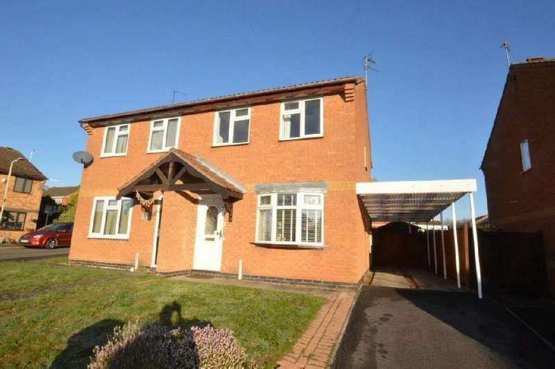 3 Bedrooms Semi Detached House for sale in Hubbard Close, Whetstone, Leicester