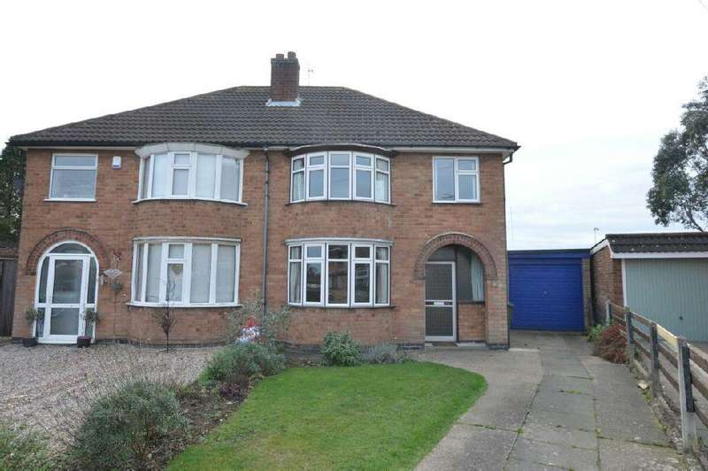 3 Bedrooms Semi Detached House for sale in Darley Road, Blaby, Leicester