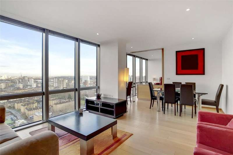 2 Bedrooms Flat for sale in One West India Quay, Hertsmere Road, London, E14