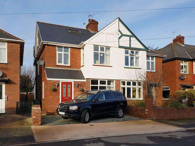4 Bedrooms Semi Detached House for sale in Ashwood Road, Exeter