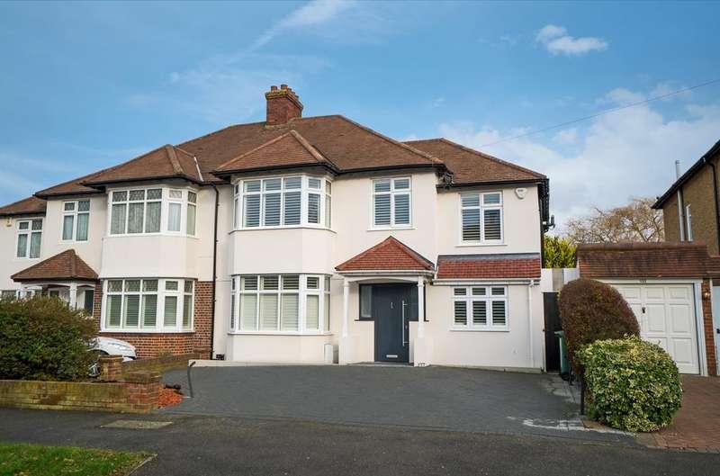 4 Bedrooms Semi Detached House for sale in Wickham Avenue, Worcester Park SM3