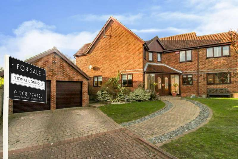 4 Bedrooms Detached House for sale in Chillery Leys, Willen, Milton Keynes MK15