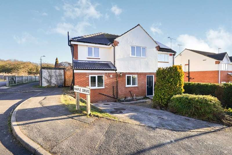 3 Bedrooms Semi Detached House for sale in Maple Drive, Broadmeadows,South Normanton, Alfreton, DE55