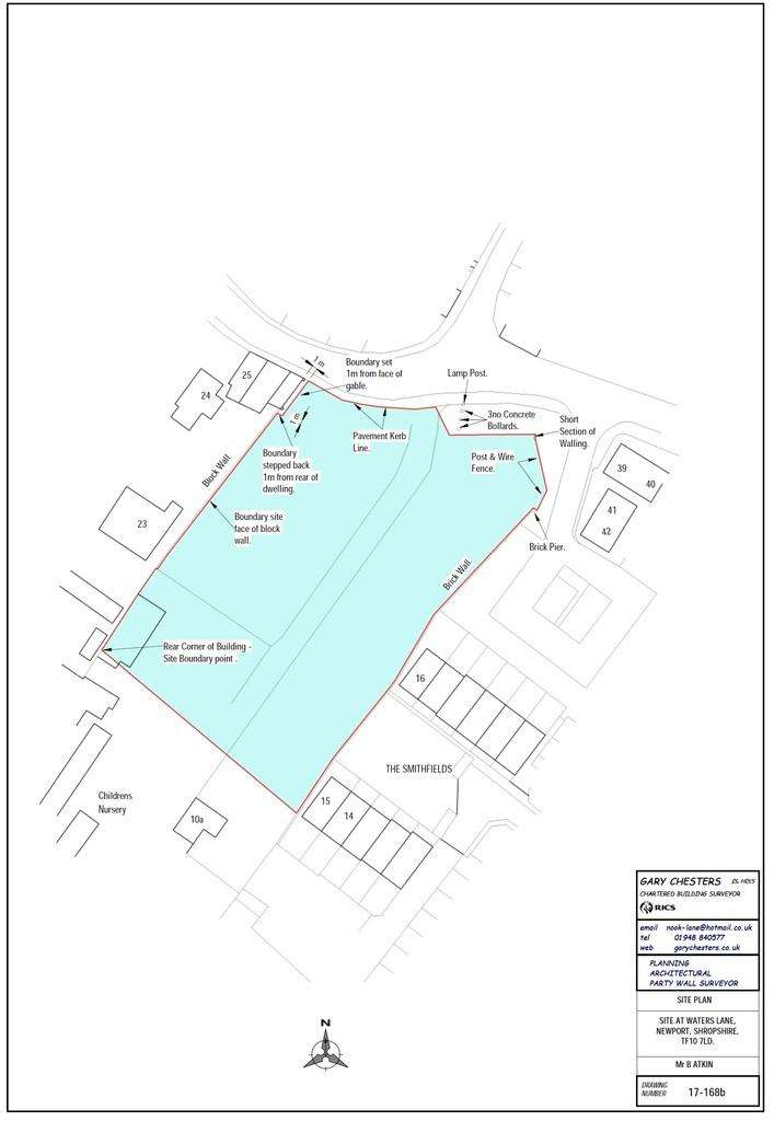 Land Commercial for sale in Land Adjacent to 27 Water Lane, Newport, Shropshire TF10 7LD