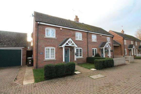 3 Bedrooms Semi Detached House for sale in Hay Barn Road, Deeping St Nicholas
