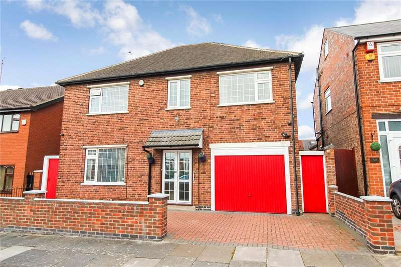 4 Bedrooms Detached House for sale in Naseby Road, Rushey Mead / Gipsy Lane, Leicester, LE4