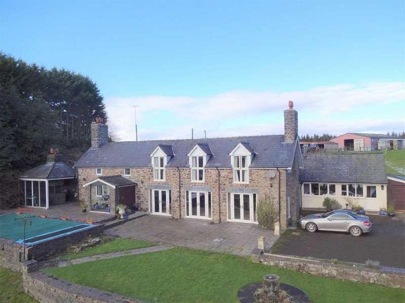 4 Bedrooms Smallholding Commercial for sale in Bryn Y Garreg, Llangadfan, Welshpool, Powys, SY21