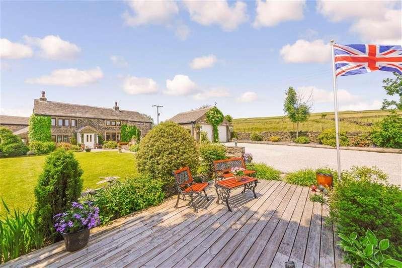 5 Bedrooms Detached House for sale in Upper Bradshaw, Slaithwaite, Huddersfield, West Yorkshire, HD7