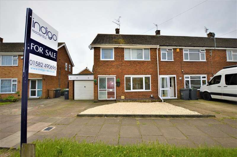 3 Bedrooms End Of Terrace House for sale in Wheatfield Road, Luton, Bedfordshire, LU4 0TP