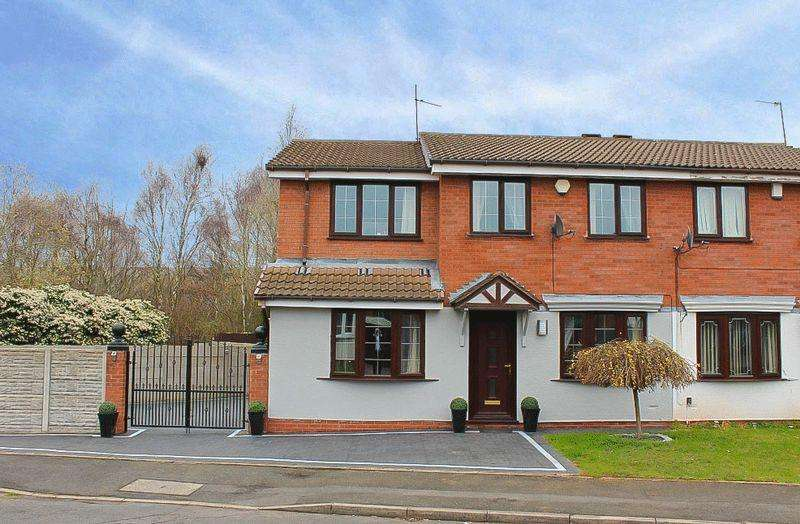 4 Bedrooms Semi Detached House for sale in Sheaves Close, Sedgemoor Park, WV14 9YG