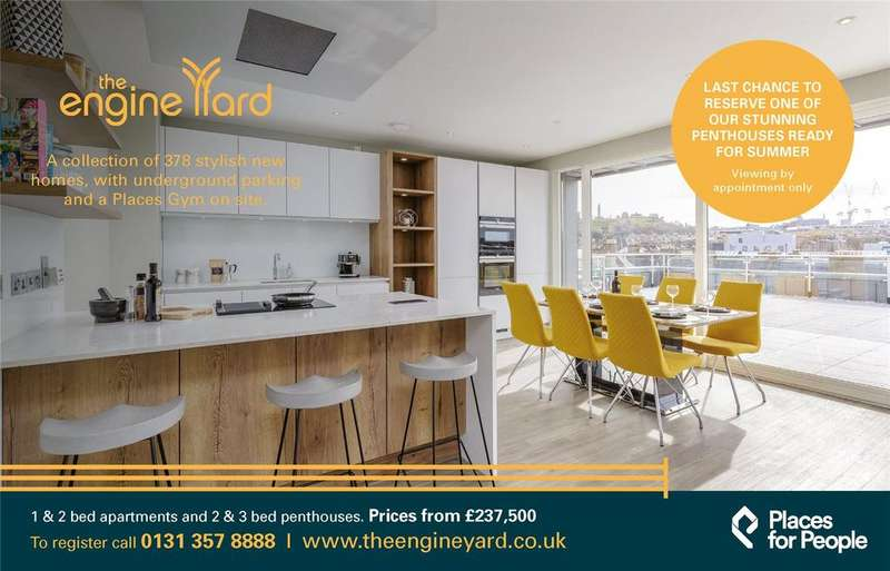 2 Bedrooms Penthouse Flat for sale in Plot 147, The Engine Yard, Edinburgh