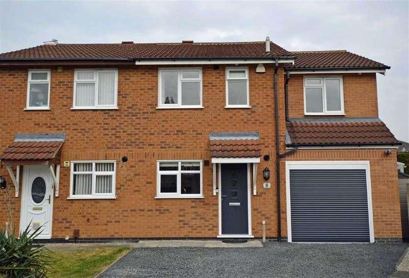 4 Bedrooms Semi Detached House for sale in Mablowe Field, Wigston Harcourt