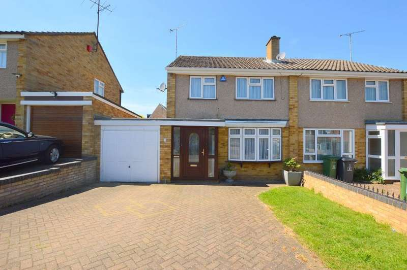 3 Bedrooms Semi Detached House for sale in Butely Road, Luton, Bedfordshire, LU4 9HE