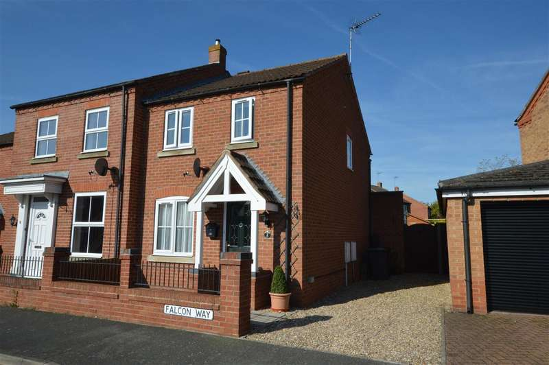 2 Bedrooms Semi Detached House for sale in Falcon Way, Sleaford