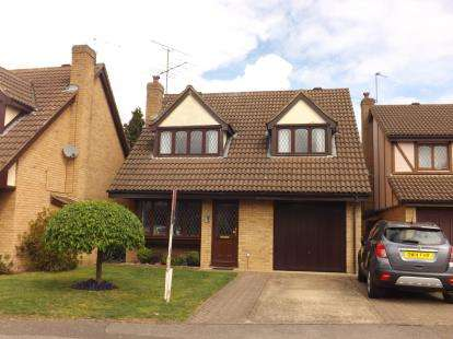 4 Bedrooms Detached House for sale in Mentmore Gardens, Leighton Buzzard, Beds, Bedfordshire