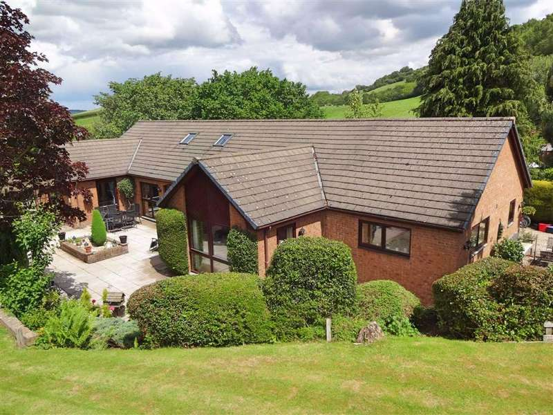 5 Bedrooms Bungalow for sale in Sharnbrook, Upper Dolfor Road, Upper Dolfor Road, Newtown, Powys, SY16