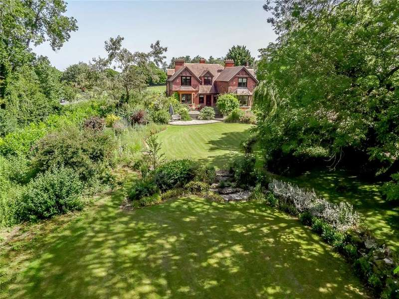5 Bedrooms Detached House for sale in Steepleton Hill, Stockbridge, Hampshire