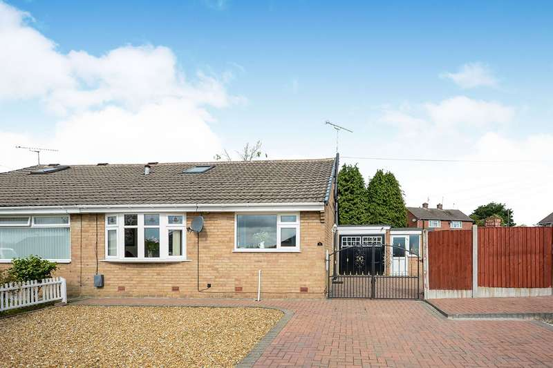 2 Bedrooms Semi Detached Bungalow for sale in Dunvegan Avenue, Danesmoor, Chesterfield, Derbyshire, S45