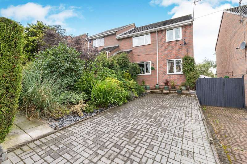 3 Bedrooms Semi Detached House for sale in Dale View Road, Lower Pilsley, Chesterfield, Derbyshire, S45