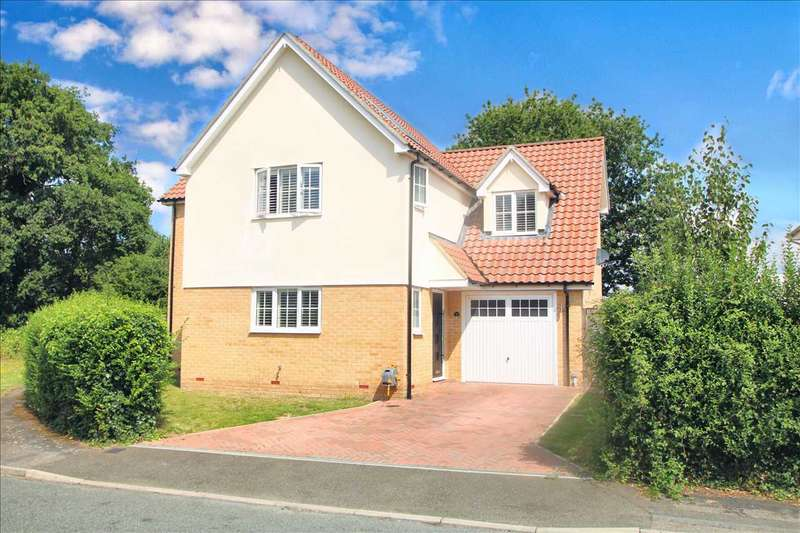 4 Bedrooms Detached House for sale in Nottcuts, East Bergholt, Colchester