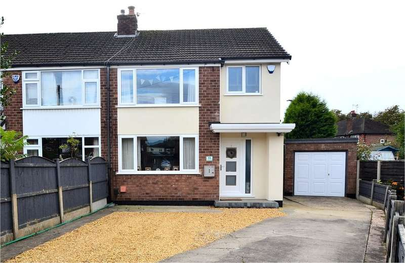 3 Bedrooms Semi Detached House for sale in Cartmel Close, Hazel Grove, Stockport SK7 5AR