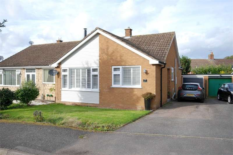 2 Bedrooms Semi Detached Bungalow for sale in Almond Close, Barby, RUGBY, Northamptonshire