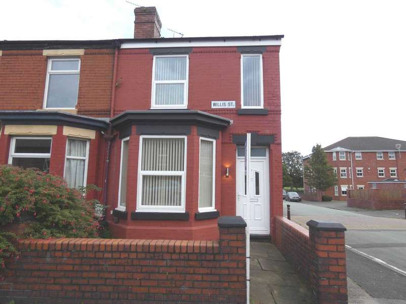 3 Bedrooms End Of Terrace House for sale in Willis Street, Warrington