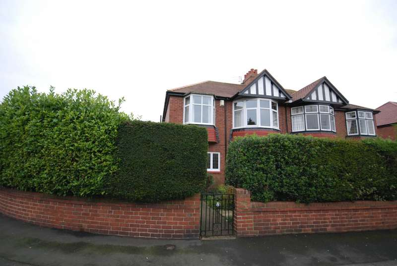 3 Bedrooms Semi Detached House for sale in Polwarth Crescent, Gosforth