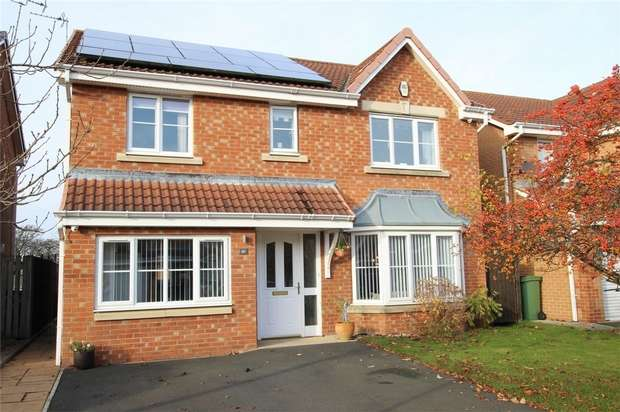 4 Bedrooms Detached House for sale in Cragside Gardens, Bedlington Station, Northumberland