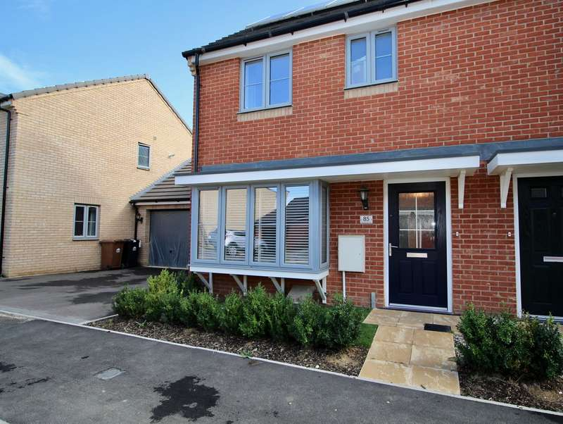 3 Bedrooms Semi Detached House for sale in Merlin Road, Priors Hall Park, Corby